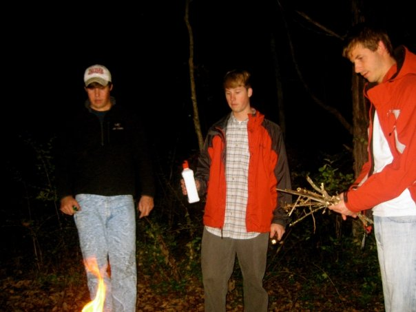 Heath Kinzer & his friends zoning out on a campfire