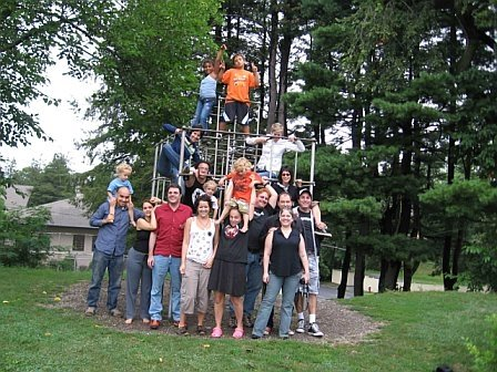 Brent Colyer with friends in New Paltz, NY, 2006