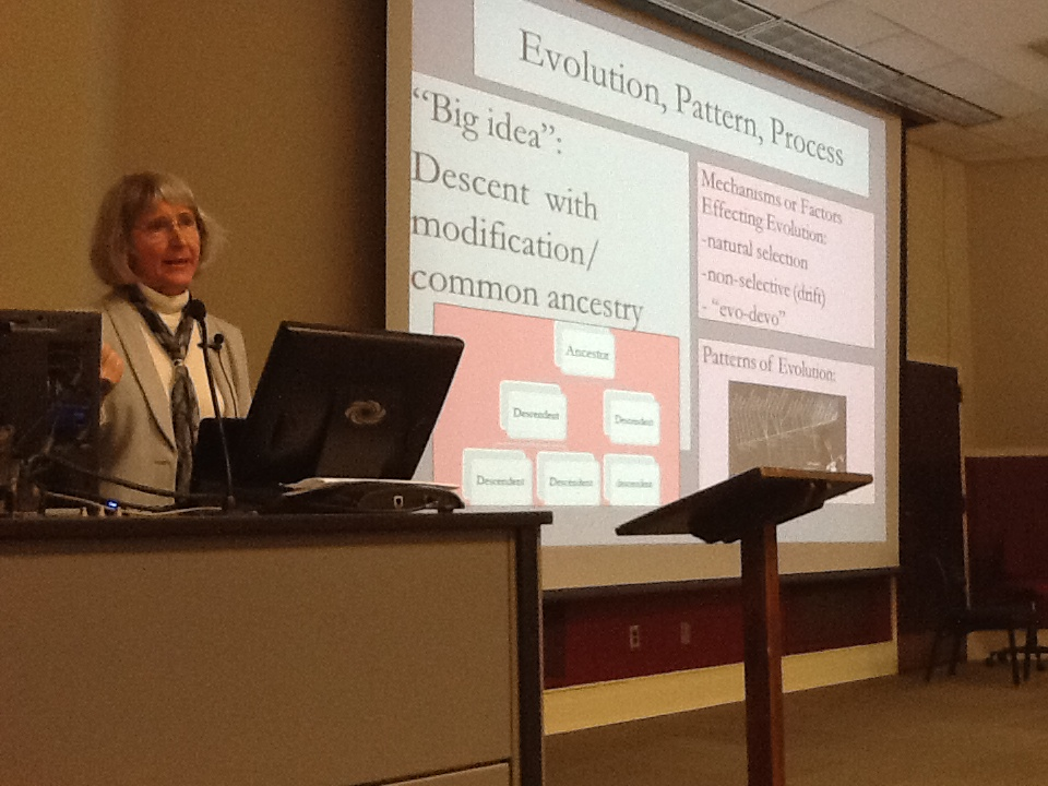 Eugenie Scott telling us about the statement of evolution education was a highlight of the 2011-12 ALLELE series