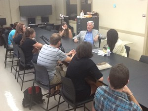 E.O. Wilson talking to EvoS students