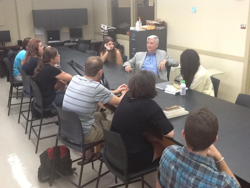 E.O. Wilson talking to EvoS students