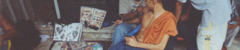 Tattooing outside in a vacant lot in Guayaquil, Ecuador, January 2002 (Photo by author).