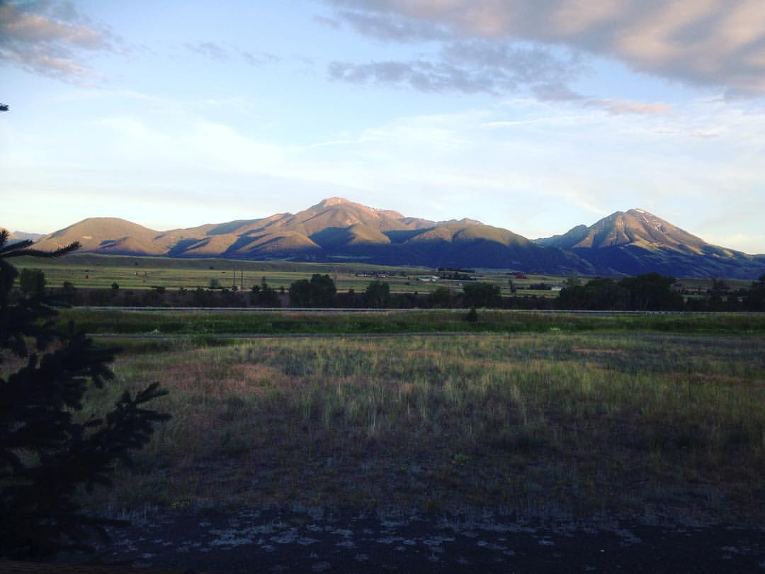 View from our cabin in Pray, MT.