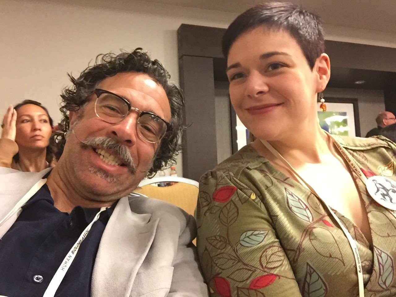 Me my good friend writing group partner Cara Ocobock at AAPA.
