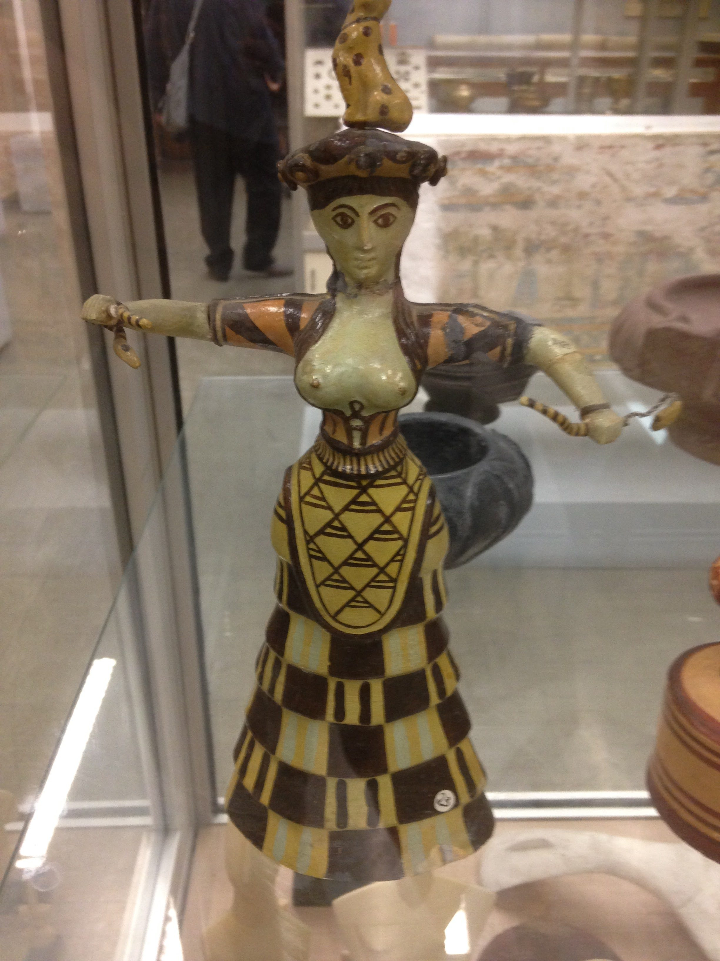 A great statuette of Athena from the teaching archives of the Anthropology Department in the Aristotle University of Thessaloniki, Greece.