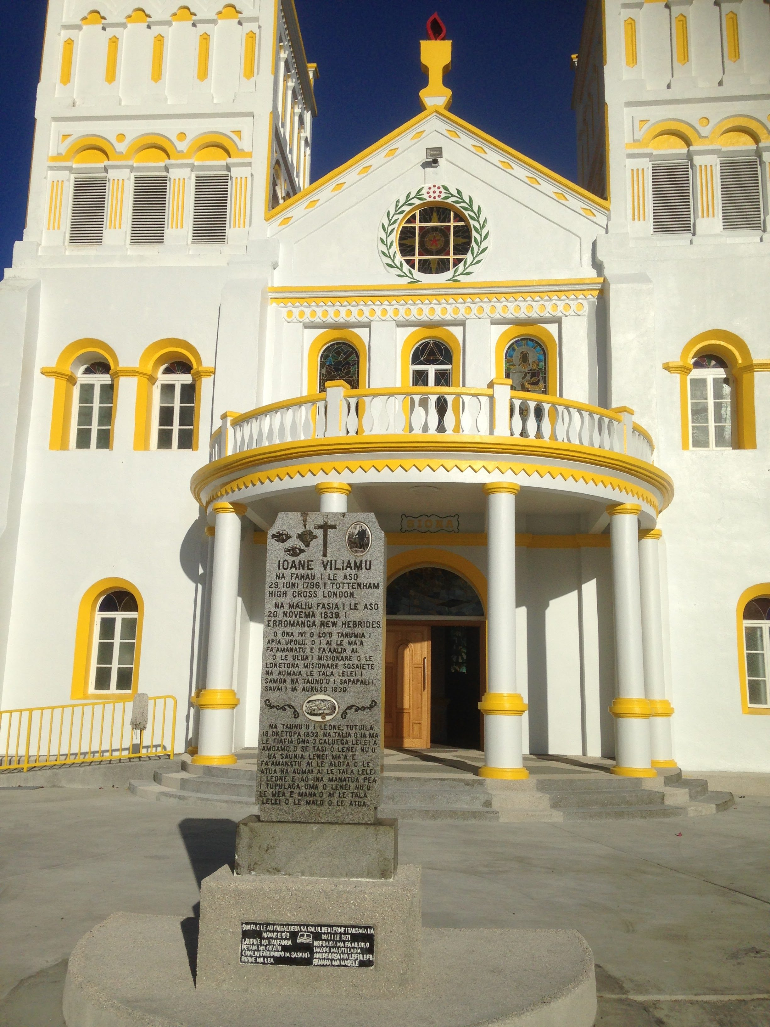 Oldest church in American Samoa (obviously renovated), which is in the village of Leone.