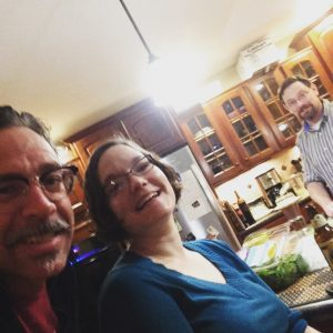 With Elizabeth Rowe and John Herbert in their kitchen, Brownsburg, IN, 11/26/16.