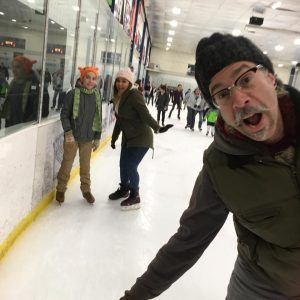 We went on our annual ice skating excursion at the Mid-Hudson Civic Center on New Year's Eve. (Photo by Loretta Lynn)