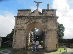 The gate to the Rova, the traditional Merina seat of royalty, features an eagle & a circumcised penis, symbols of power.