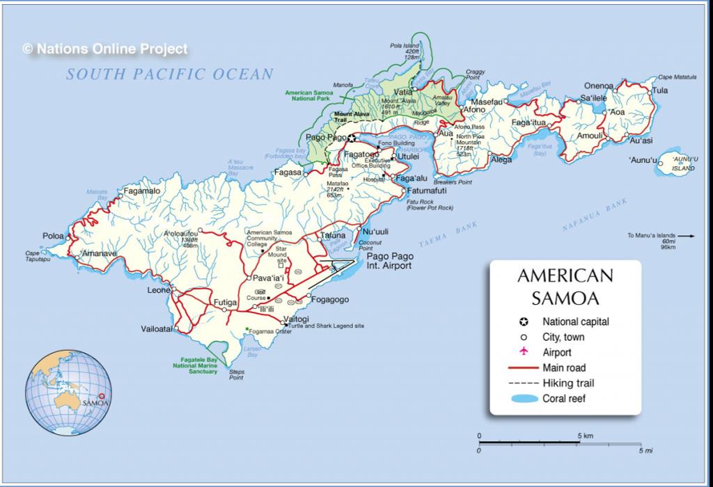 American Samoa road map