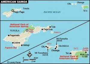American Samoa map from Lonely Planet