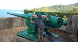 Navy gun on Tutuila, American Samoa