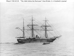 German SMS Adler before the hurricane.
