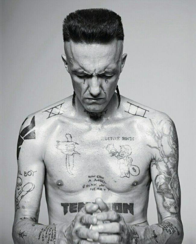 Ninja from Die Antwoord. (Photo from http://www.dazeddigital.com/artsandculture/article/24148/1/tattooing-a-ninja; Photography Pierrre Debusschere; styling Robbie Spencer)